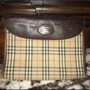 Authentic Burberry vintage nova clutch pouch bag